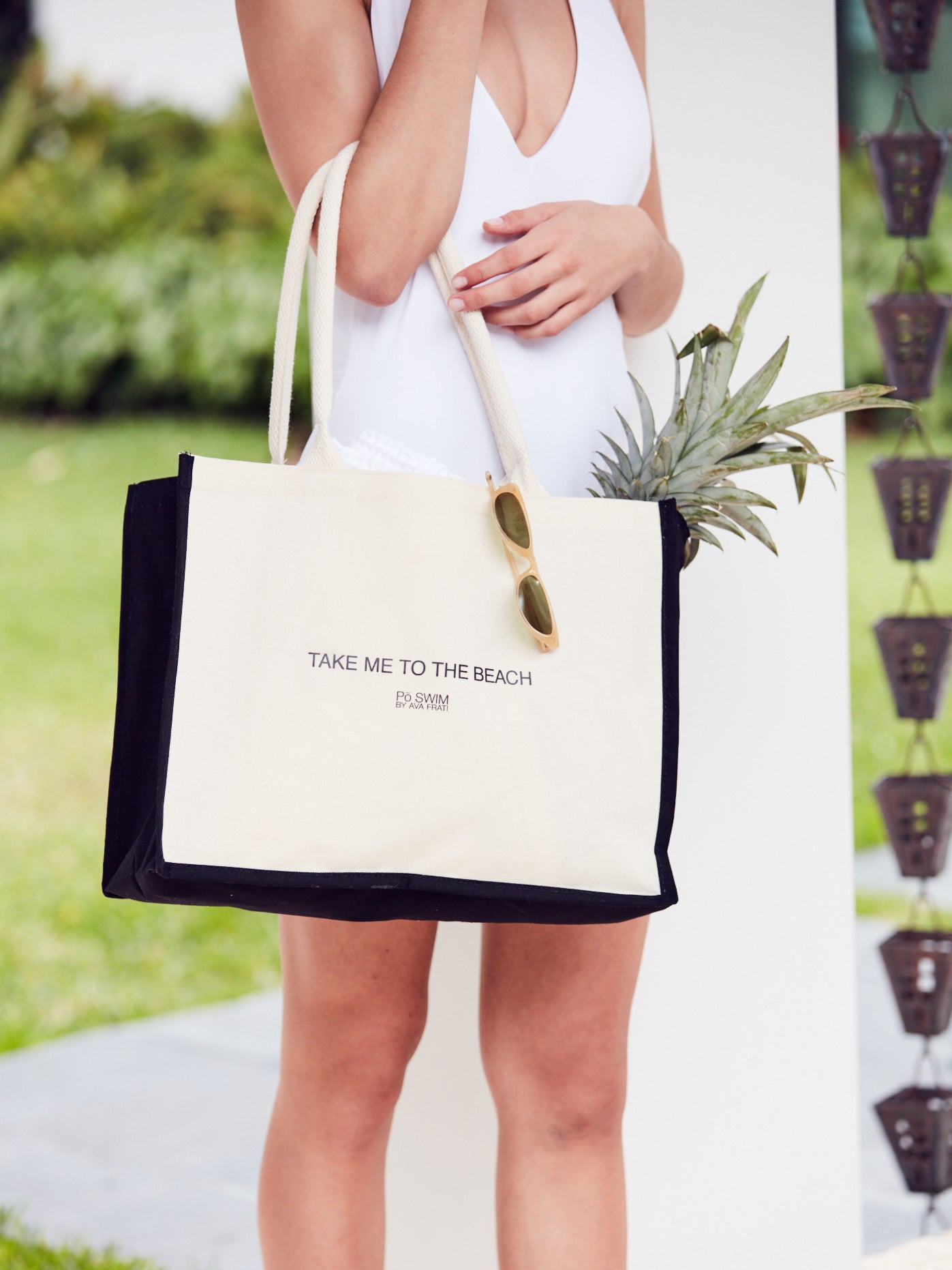 CANVAS LOGO TOTE BAG