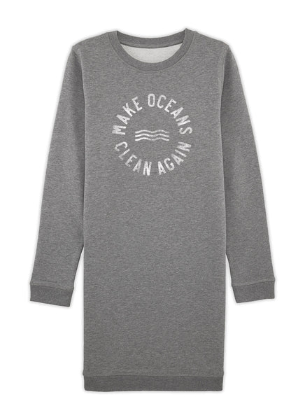 "Sweatdress ""Make Oceans Clean Again"" - Women - Hjemhavn Sweatshirt"