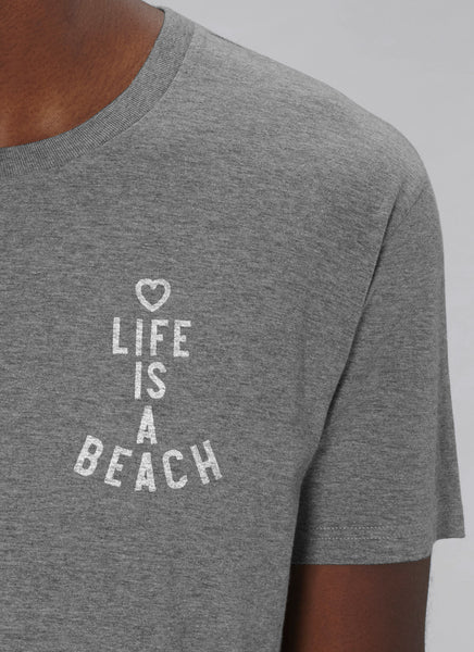 "Tee ""Life is a Beach"" No.2 - Men (Unisex) - Hjemhavn T-shirt"