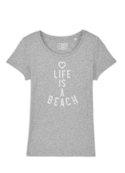 "Tee ""Life is a Beach"" - Women - Hjemhavn T-shirt"