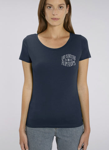 "Tee ""Life is Better in Flip Flops"" - Women - Hjemhavn T-shirt"