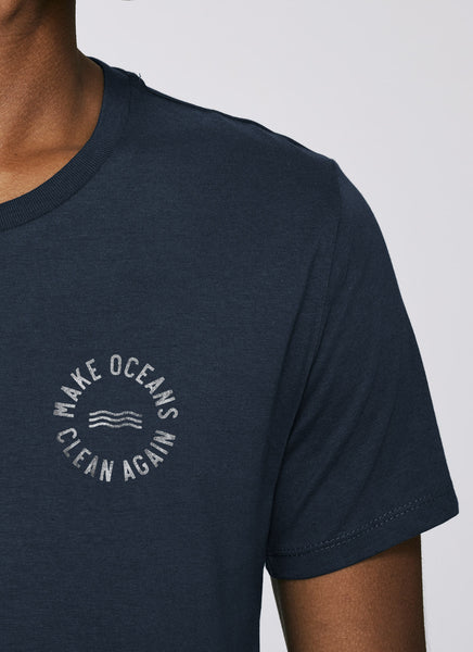 "Tee ""Make Oceans Clean Again"" No.2 - Men (Unisex) - Hjemhavn T-shirt"