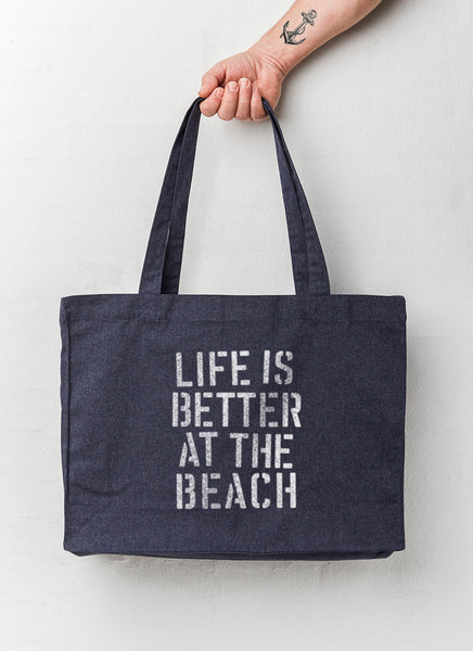 "Beach Bag ""Life is Better at the Beach"" - Recycled - Hjemhavn Beach Bag"