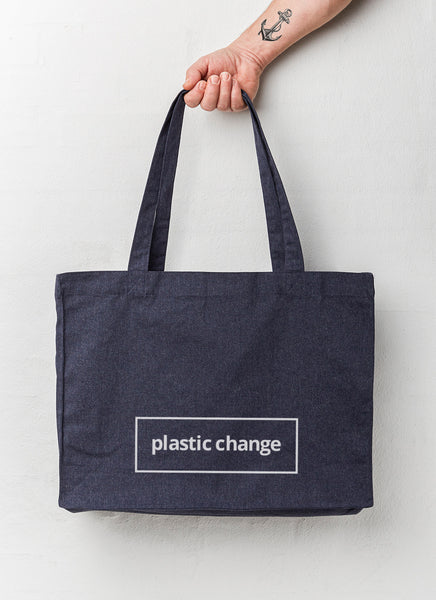 "Beach Bag ""Plastic Change"" - Hjemhavn Beach Bag"