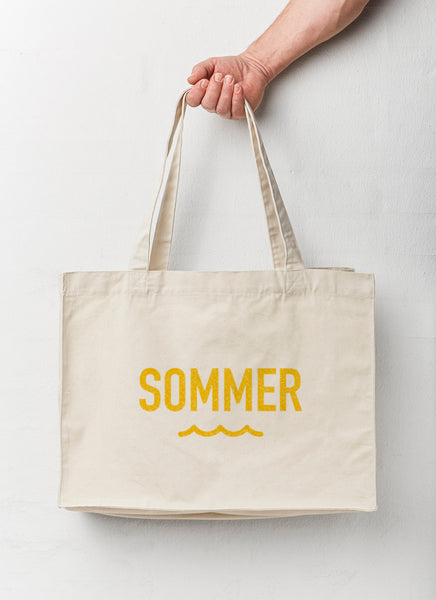 "Beach Bag ""Summer"" - Recycled - Hjemhavn Beach Bag"