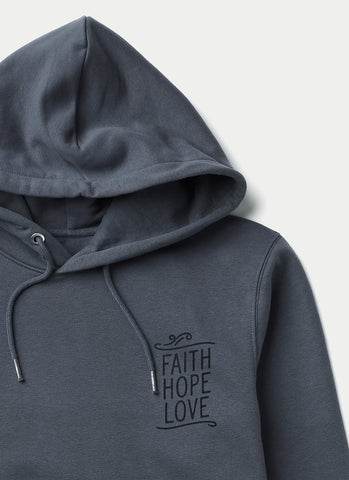 "Hoodie ""Faith Hope Love"" - Unisex"