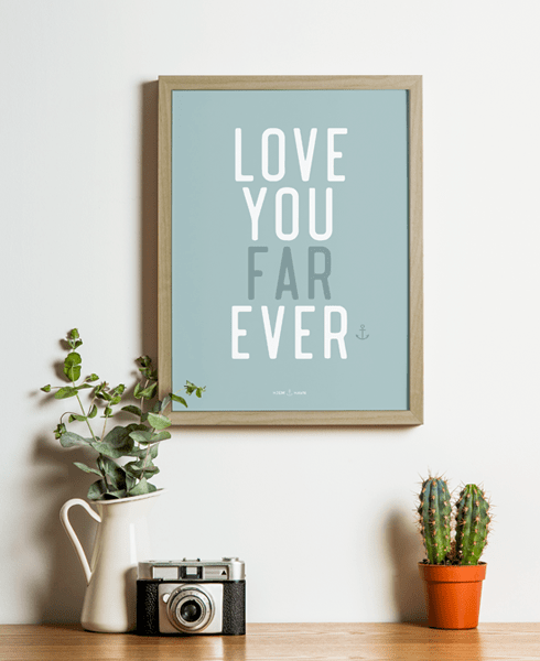 """Love You Farever"" (Plakat) - Hjemhavn Plakat"