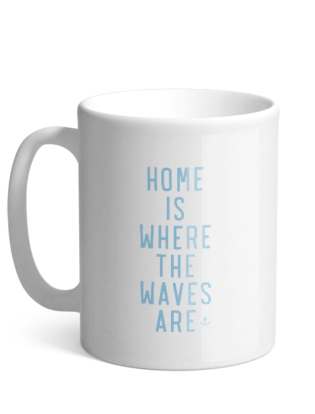 Keramikkrus - Home is Where the Waves are - Hjemhavn Krus