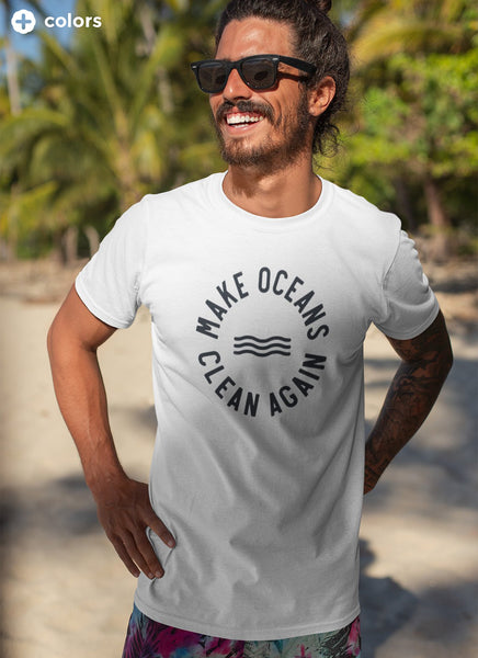 "Tee ""Make Oceans Clean Again"" - Men (Unisex)"