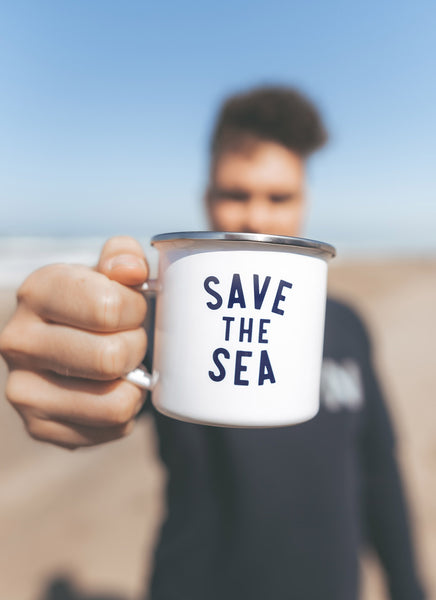 "Emaljekrus ""Save the Sea"" - Hjemhavn Krus"