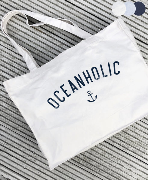 "Beach Bag ""Oceanholic"" - Recycled - Hjemhavn Beach Bag"