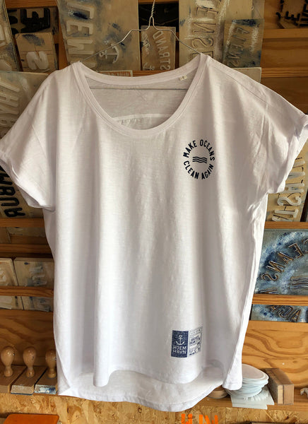 "Tee ""Make Oceans Clean Again"" (Loose Fit) - Women - Hjemhavn T-shirt"