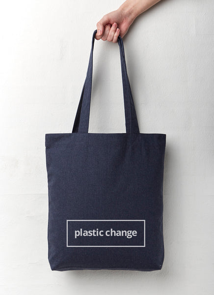 "Shopping Bag ""Plastic Change"" - Hjemhavn Shopping Bag"