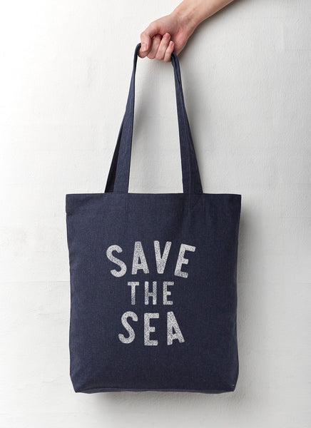 "Shopping Bag ""Save The Sea"" - Recycled - Hjemhavn Shopping Bag"