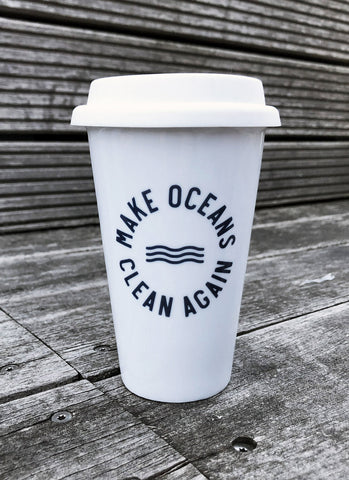 "To-Go Keramikkrus ""Make Oceans Clean Again"""