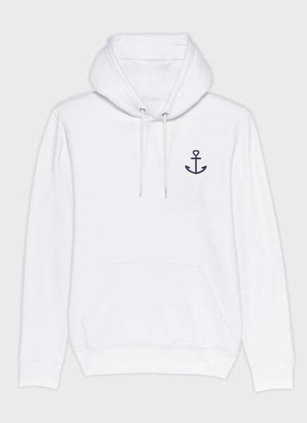"Hoodie ""Anchor"" - White"