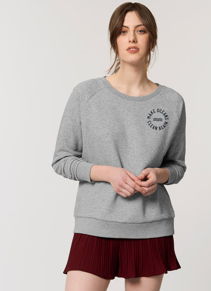 "Sweat ""Make Oceans Clean Again"" - Women - Hjemhavn Sweatshirt"