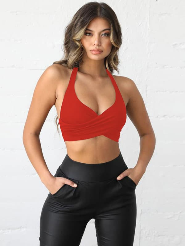 Halter Perceptions Wrap Top