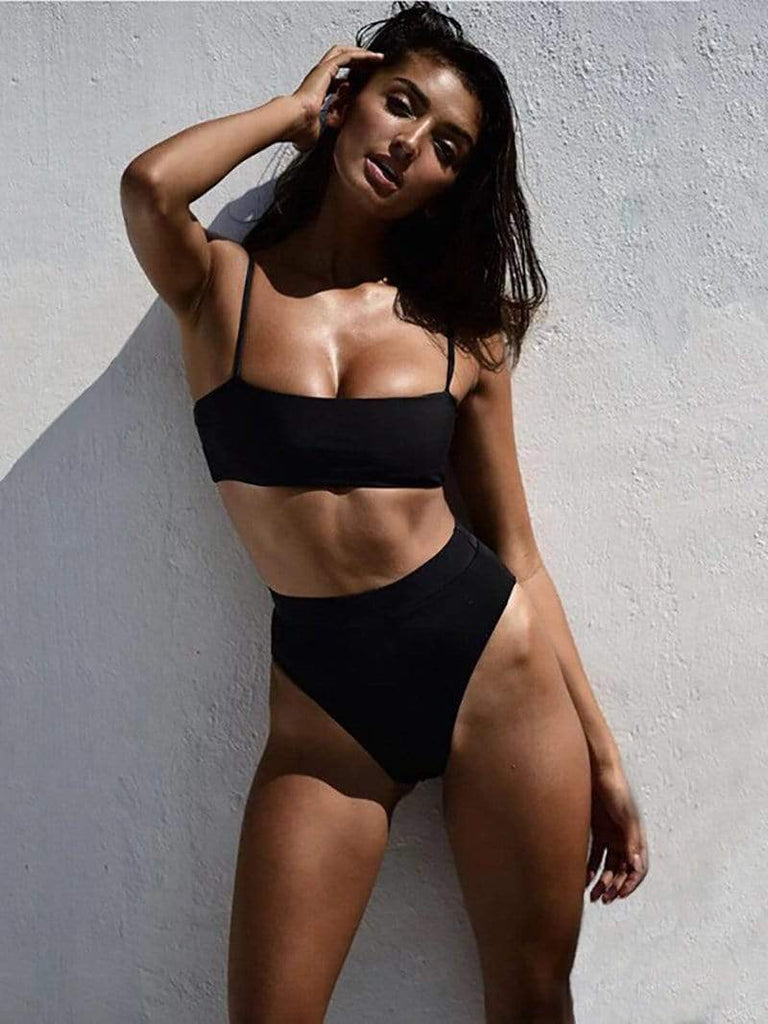 Minimal Fox Black / S Cabana Bikini Set