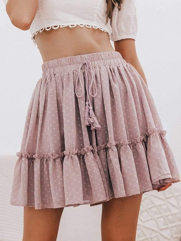 Minimal Fox Dusty Pink / S Playing Polka Skirt