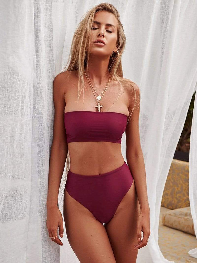 Minimal Fox Raspberry / S Beach Babe Bikini Set