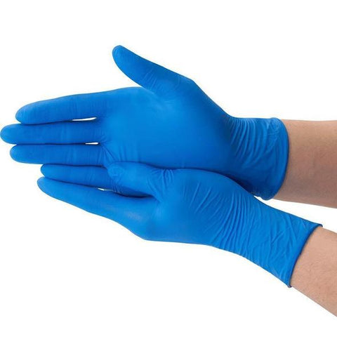 5 Mil Nitrile Examination Gloves - 100 Count - Blue