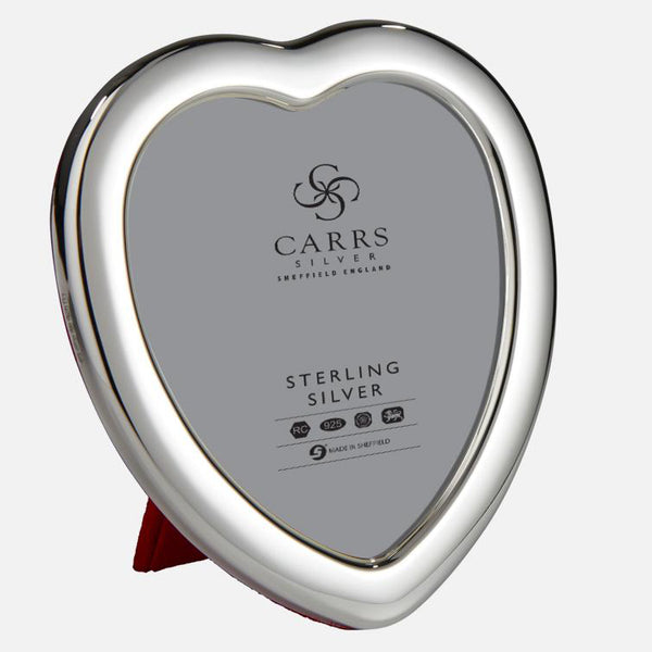Sterling Silver Heart Photo Frame With Red Velvet Back
