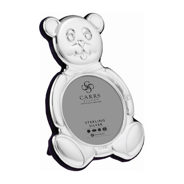 SALE - Child's Bear Sterling Silver Photo Frame
