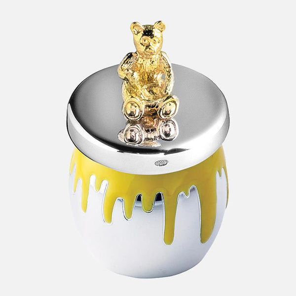 Bear Runny Honey Jar Keepsake Sterling Silver