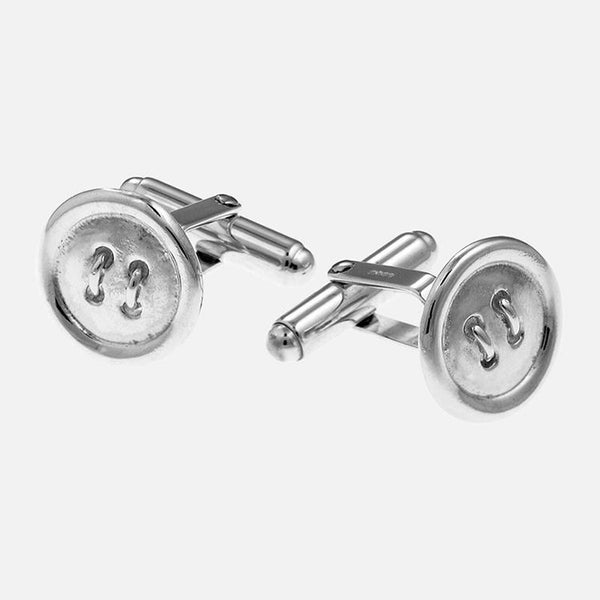 Sterling Silver Button Cufflinks