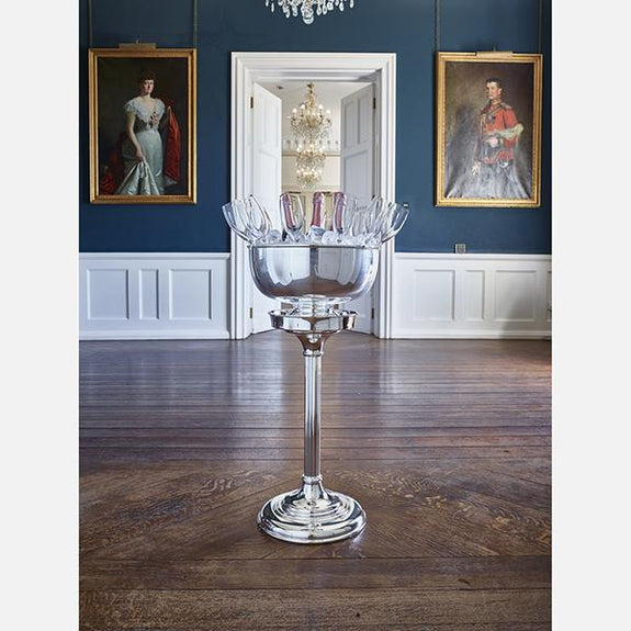 Silver Plated Champagne Bowl & Stand