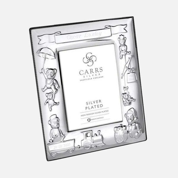 70% OFF - Silver Plated Child's Christening Photo Frame