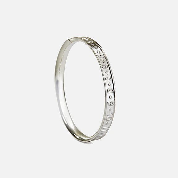 SALE - Number Design Baby's Sterling Silver Bracelet