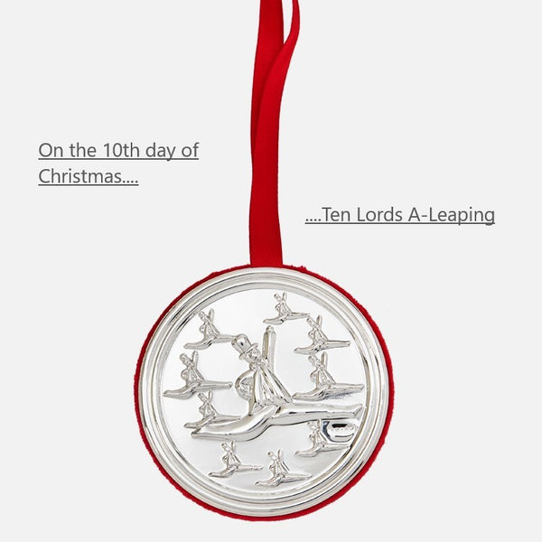 10th Day Of Christmas Hanging Decoration - Ten Lords A-Leaping