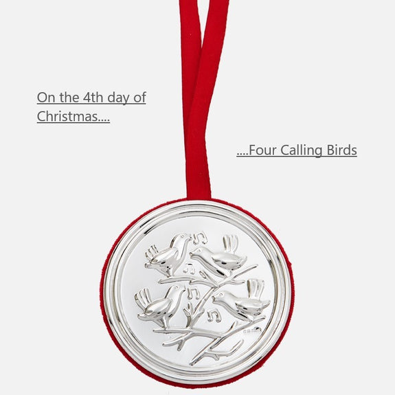 4th Day Of Christmas Hanging Decoration - Four Calling Birds