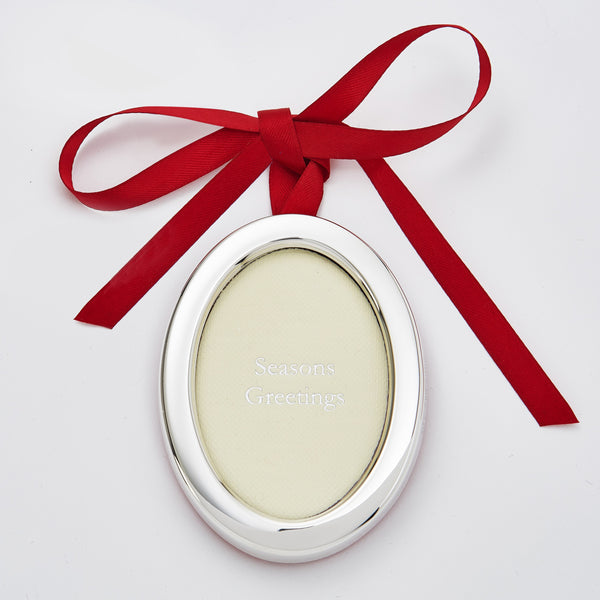 Oval Photo Frame Christmas Hanging Decoration With Shield