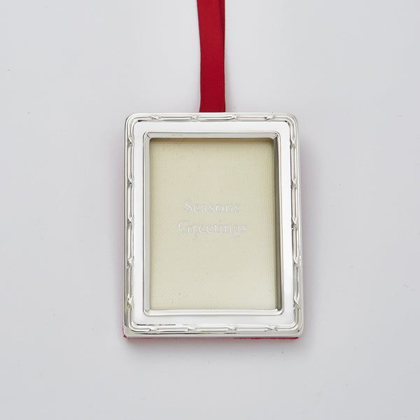 Rectangular Photo Frame Christmas Hanging Decoration With Shield