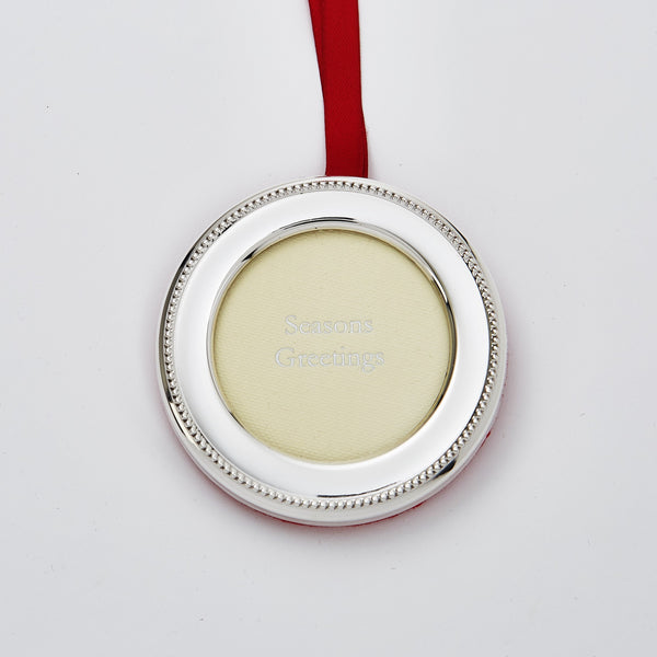 Round Photo Frame Christmas Hanging Decoration With Shield