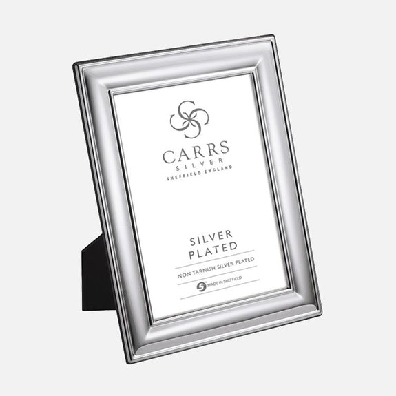 Classic Plain Photo Frame Wood Back Silver Plated Carrs Silver