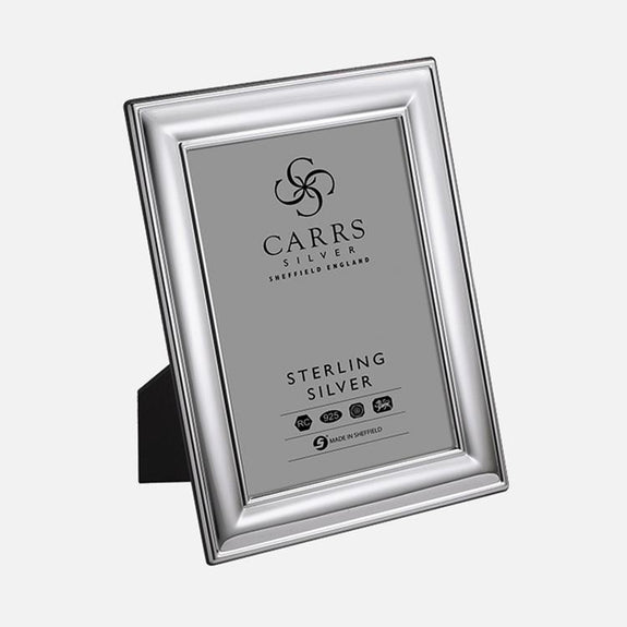 Classic Plain Sterling Silver Photo Frame With Wood Back