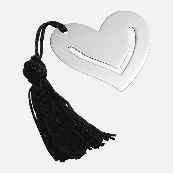 Sterling Silver Heart Bookmark With Tassel
