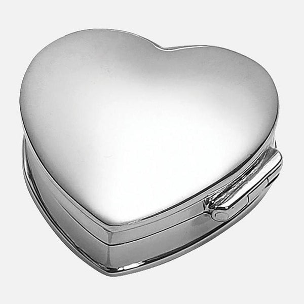 Sterling Silver Heart Pill Keepsake Box
