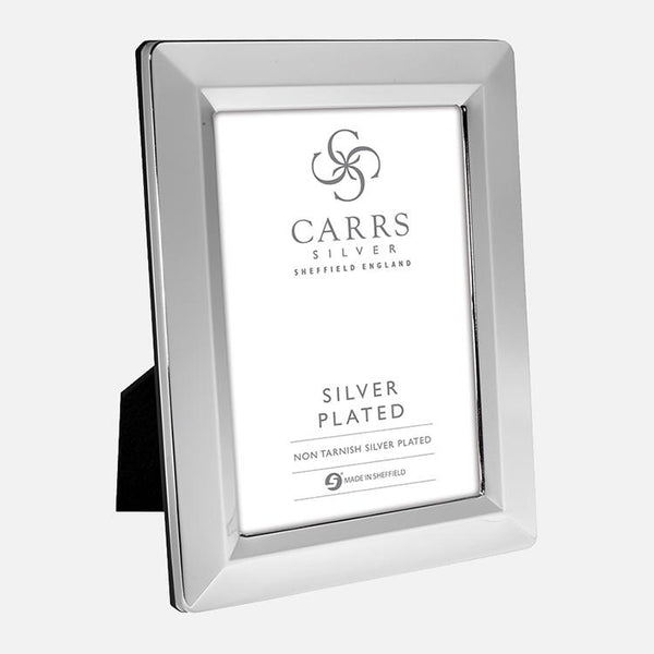 Linear Photo Frame Black Wood Back 6x4 Silver Plated