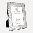 Louvre Silver Plated Photo Frame With Black Wood Back