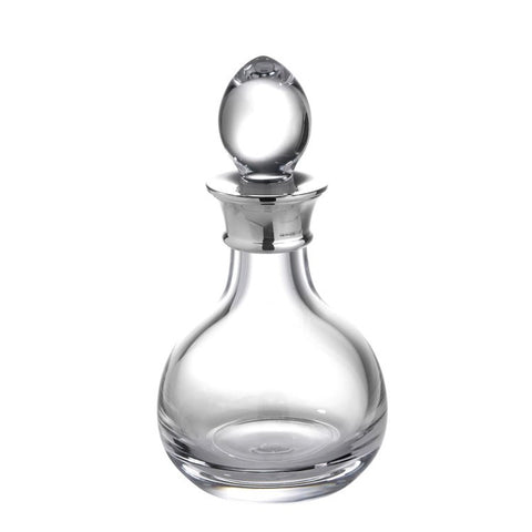 SALE - Mini Sterling Silver Decanter Plain Crystal - DEC506/A-SS