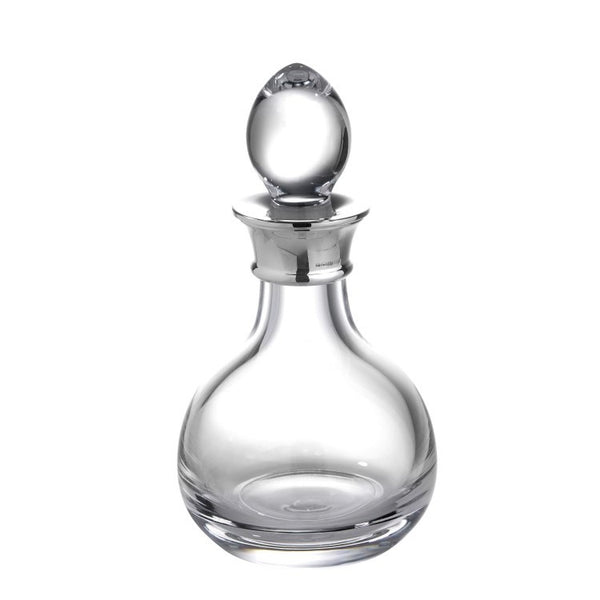 01 SALE Mini Sterling Silver Decanter Plain Crystal - DEC506/A-SS