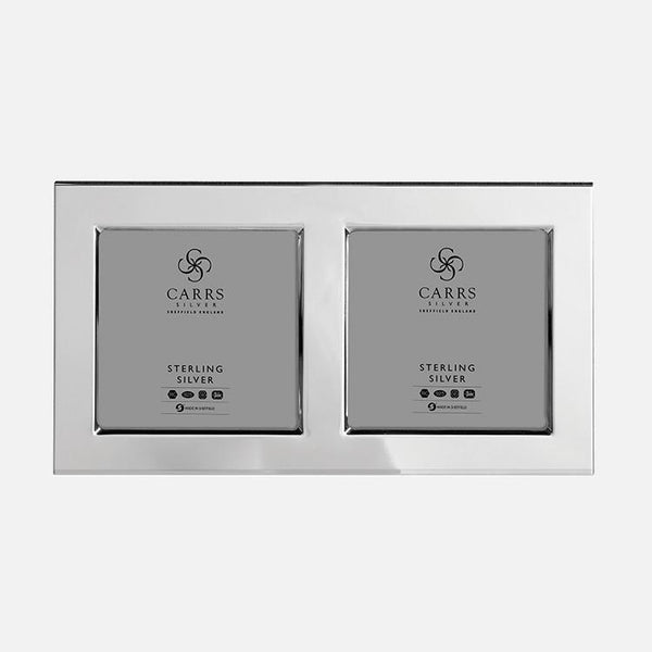Modern Flat Photo Frame Wood Back Sterling Silver Carrs Silver