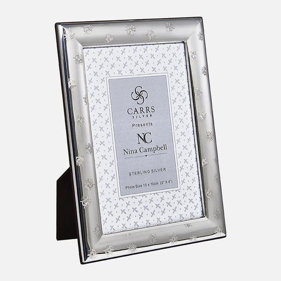 Nina Campbell Photo Frame Wood Back Sterling Silver | Carrs Silver