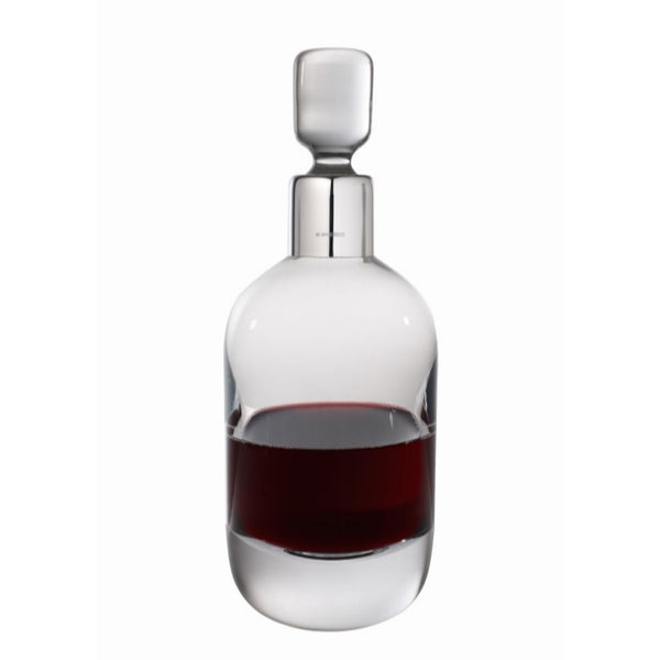 01 SALE - Wine Decanter With Sterling Silver Collar - DEC1206/A-SS