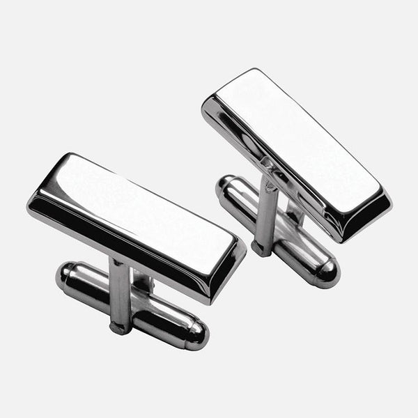 Plain Ingot Sterling Silver Cufflinks